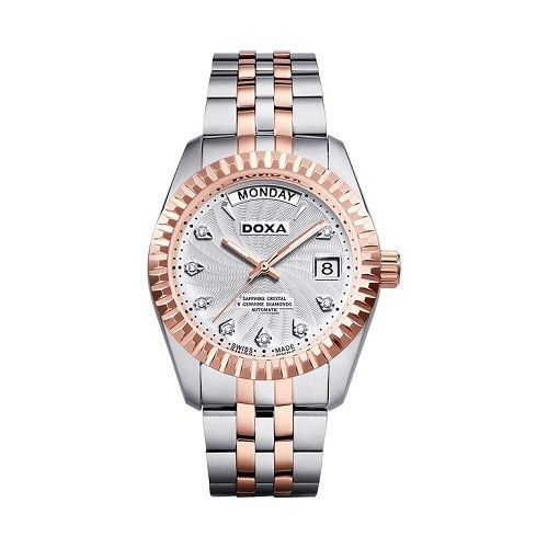 Đồng hồ gắn kim cương, họa tiết guilloché đắt đến mức nào? - Ảnh: Doxa D133RWH