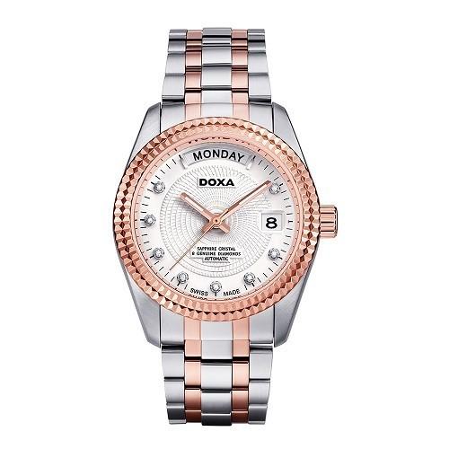 Đồng hồ gắn kim cương, họa tiết guilloché đắt đến mức nào? - Ảnh: Doxa D141RWH