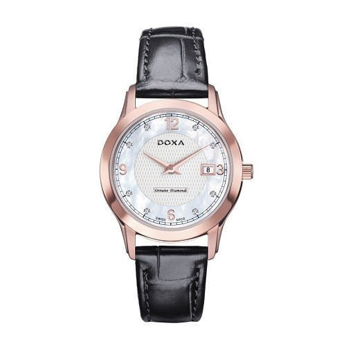 Đồng hồ gắn kim cương, họa tiết guilloché đắt đến mức nào? - Ảnh: Doxa D168RWL