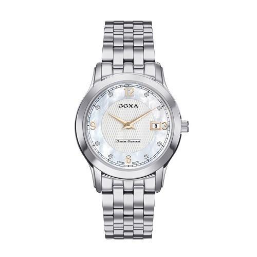 Đồng hồ gắn kim cương, họa tiết guilloché đắt đến mức nào? - Ảnh: Doxa D168SWH