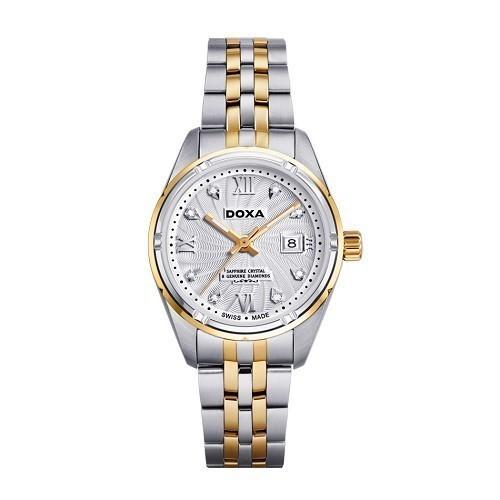 Đồng hồ gắn kim cương, họa tiết guilloché đắt đến mức nào? - Ảnh: Doxa D174TWH