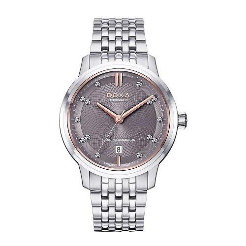 Đồng hồ gắn kim cương, họa tiết guilloché đắt đến mức nào? - Ảnh: Doxa D220SGY