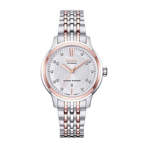 Đồng hồ gắn kim cương, họa tiết guilloché đắt đến mức nào? - Ảnh: Doxa D221RSV