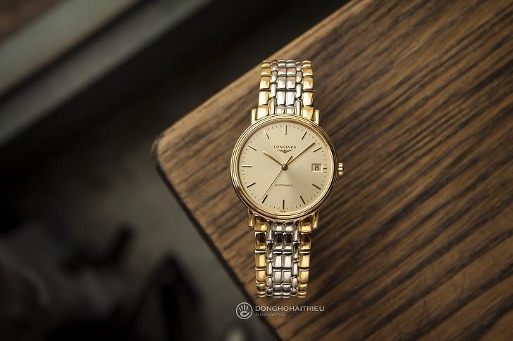 Đồng hồ Longines L4.821.2.32.7 dây đờ mi, máy cơ Thụy Sĩ - Ảnh: 1