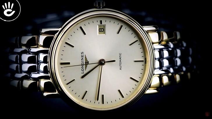 Đồng hồ Longines L4.821.2.32.7 dây đờ mi, máy cơ Thụy Sĩ - Ảnh: 5