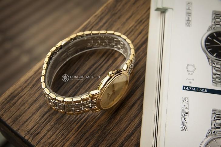 Đồng hồ Longines L4.821.2.32.7 dây đờ mi, máy cơ Thụy Sĩ - Ảnh: 8