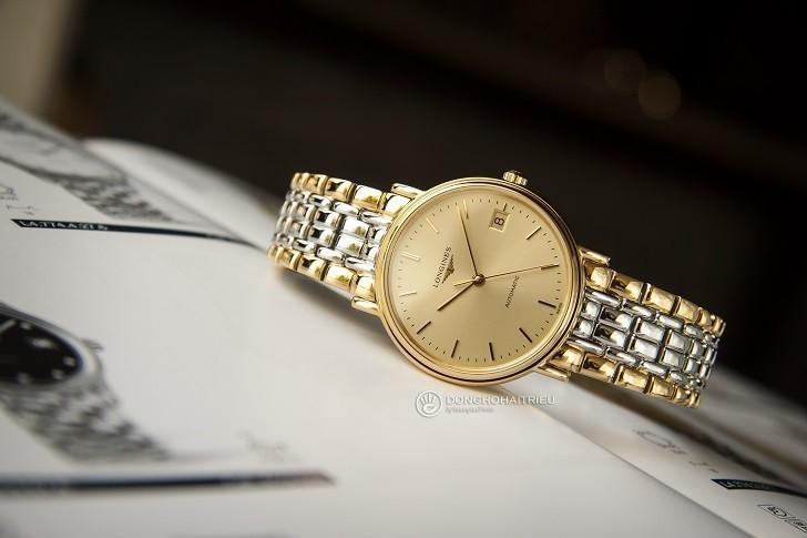 Đồng hồ Longines L4.821.2.32.7 dây đờ mi, máy cơ Thụy Sĩ - Ảnh: 9