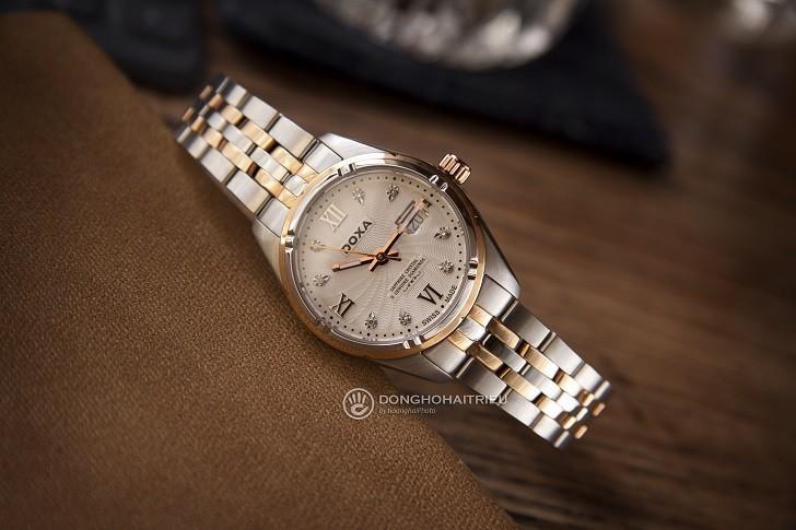 Ngắm nhìn đồng hồ Doxa D174RWH đính 8 viên kim cương thật - Ảnh: 10