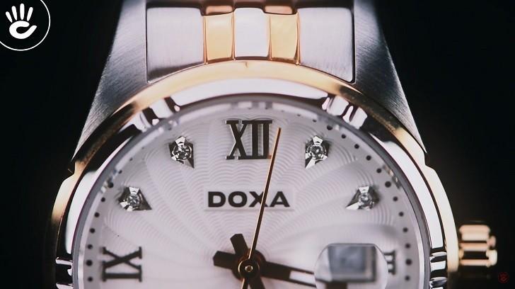 Ngắm nhìn đồng hồ Doxa D174RWH đính 8 viên kim cương thật - Ảnh: 2
