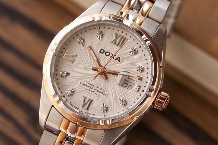 Ngắm nhìn đồng hồ Doxa D174RWH đính 8 viên kim cương thật - Ảnh: 4