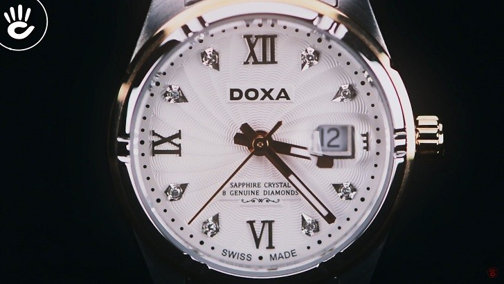 Ngắm nhìn đồng hồ Doxa D174RWH đính 8 viên kim cương thật - Ảnh: 6