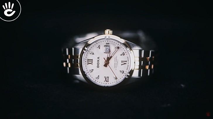 Ngắm nhìn đồng hồ Doxa D174RWH đính 8 viên kim cương thật - Ảnh: 7