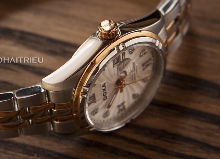 Ngắm nhìn đồng hồ Doxa D174RWH đính 8 viên kim cương thật - Ảnh: 9