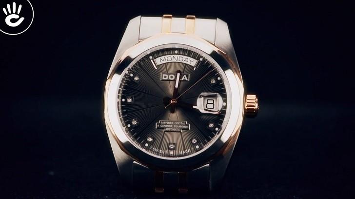 Review chiếc đồng hồ Doxa D175RGY máy cơ Thụy Sỹ - Ảnh: 4