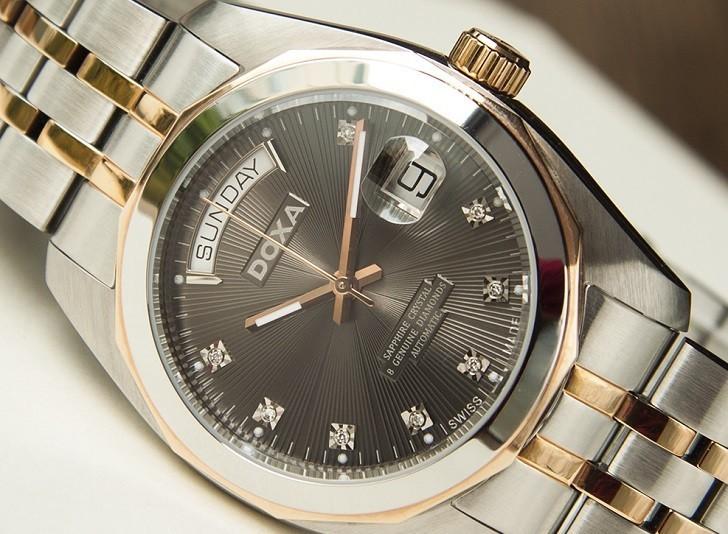Review chiếc đồng hồ Doxa D175RGY máy cơ Thụy Sỹ - Ảnh: 5