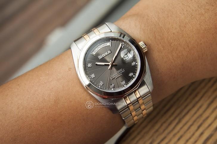 Review chiếc đồng hồ Doxa D175RGY máy cơ Thụy Sỹ - Ảnh: 7