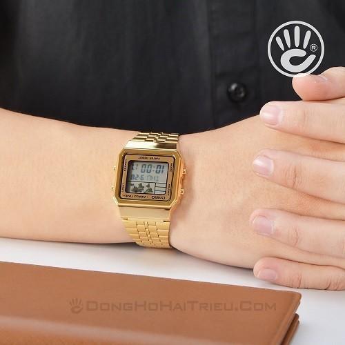 Tốt nghiệp cấp 3 rồi, 20 mẫu đồng hồ điện tử mùa chia tay thôi! - Ảnh: Casio A500WGA-9DF