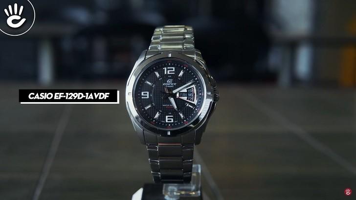 Đồng hồ Casio EF-129D-1AVUDF chịu nước 10ATM, đi bơi thoải mái - Ảnh: 2