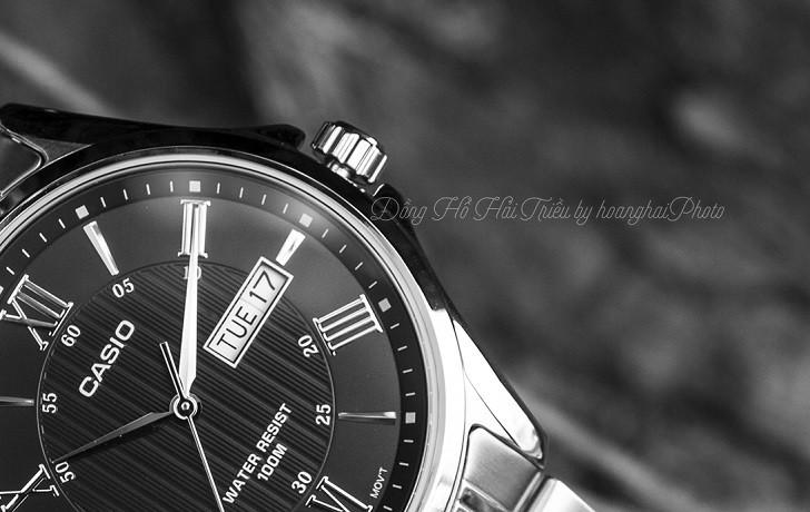 Đồng hồ Casio MTP-1384D-1AVDF giá rẻ, đi bơi thoải mái - Ảnh: 6