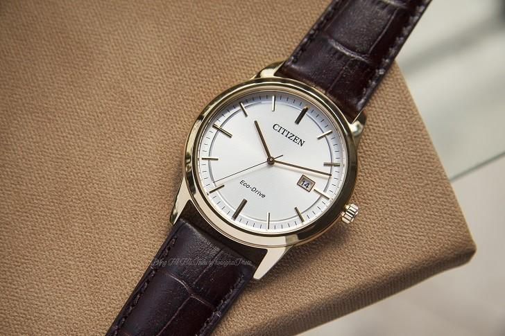 Đồng hồ Citizen AW1233-01A máy Eco-Drive, mạ vàng PVD - Ảnh: 1