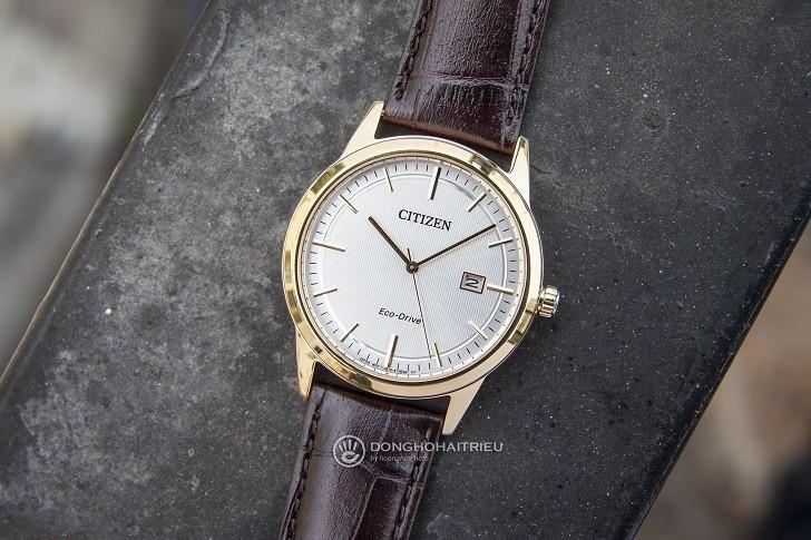 Đồng hồ Citizen AW1233-01A máy Eco-Drive, mạ vàng PVD - Ảnh: 5