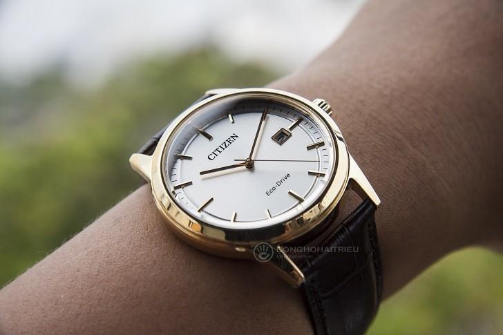 Đồng hồ Citizen AW1233-01A máy Eco-Drive, mạ vàng PVD - Ảnh: 8