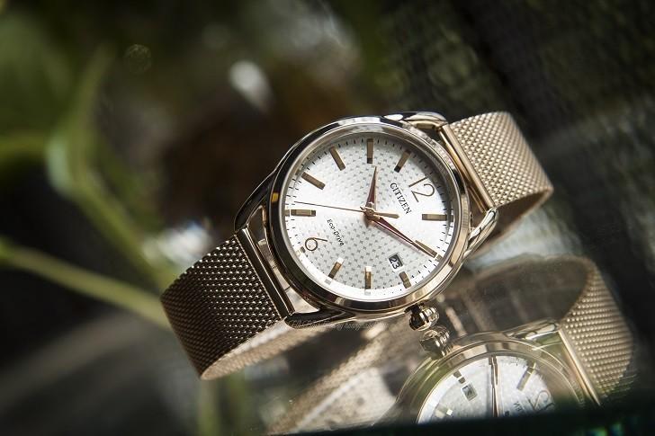 Đồng hồ Citizen FE6089-84A (nữ) dây lưới, máy Eco-Drive - Ảnh: 1