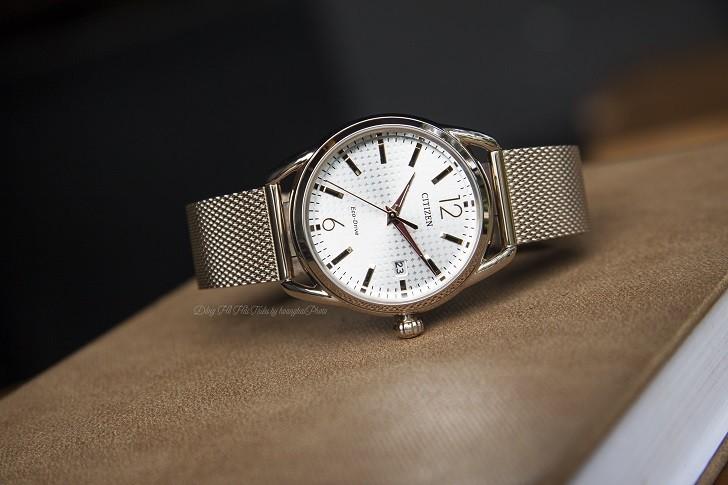Đồng hồ Citizen FE6089-84A (nữ) dây lưới, máy Eco-Drive - Ảnh: 5
