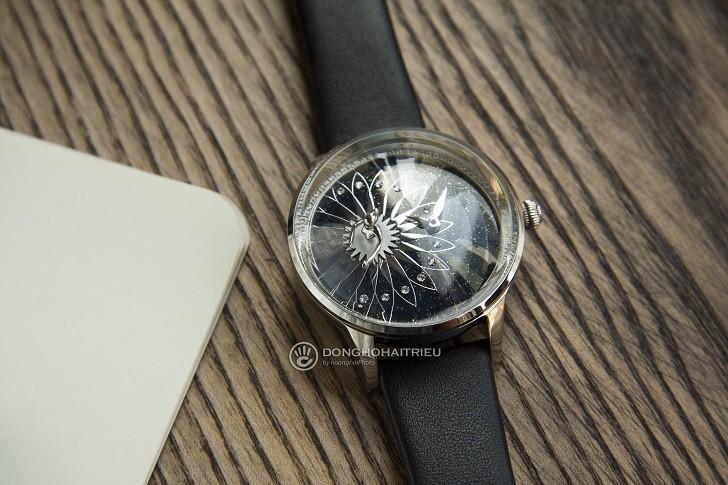 Đồng hồ Fouetté OR-STAR mặt tráng men, đính 88 viên đá CZ,... - Ảnh: 1