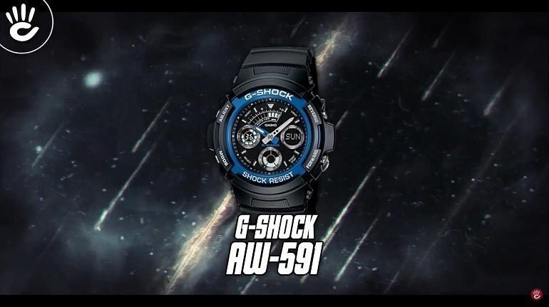 Đồng hồ G-Shock AW-591-2ADR có dạ quang, chịu nước 20ATM - Ảnh: 1
