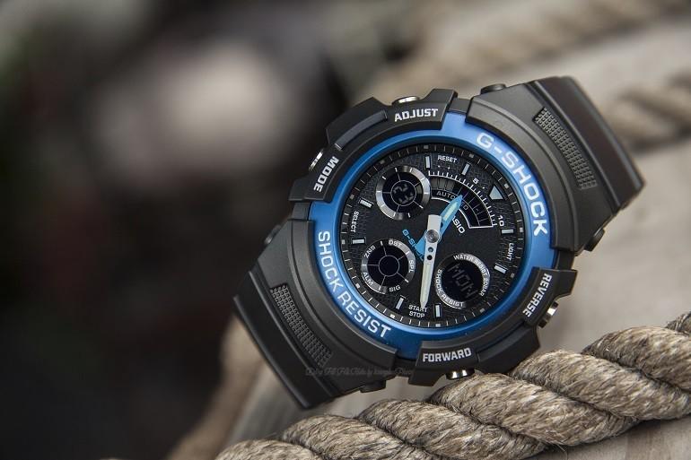 Đồng hồ G-Shock AW-591-2ADR có dạ quang, chịu nước 20ATM - Ảnh: 2