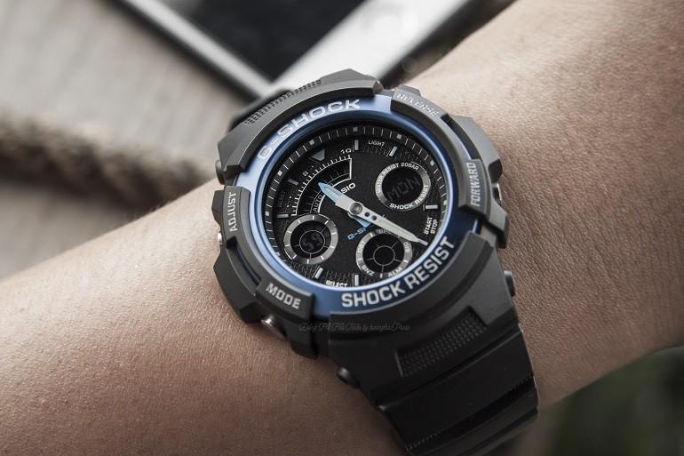 Đồng hồ G-Shock AW-591-2ADR có dạ quang, chịu nước 20ATM - Ảnh: 5