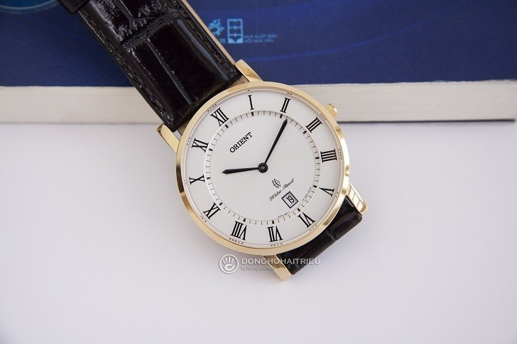 Đồng hồ Orient FGW0100FW0 siêu mỏng giá rẻ, kính sapphire - Ảnh: 3