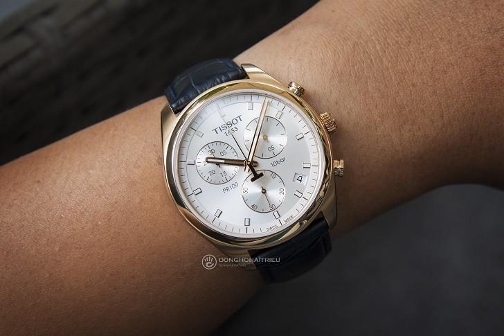 Đồng hồ Tissot T101.417.36.031.00 có Chronograph, chịu nước 10ATM - Ảnh: 2