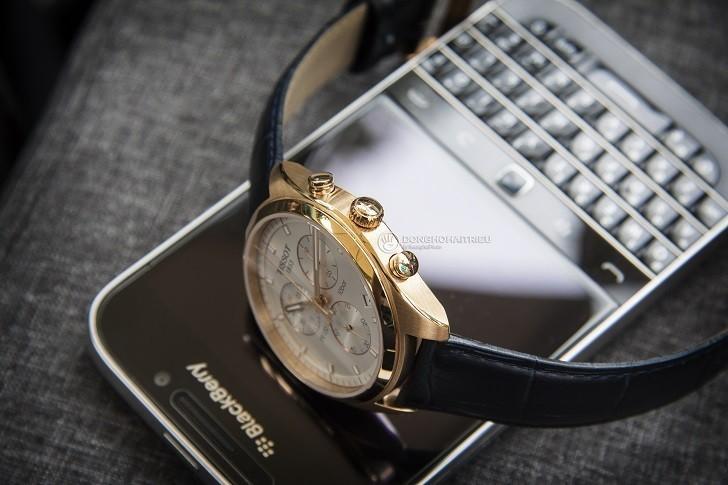 Đồng hồ Tissot T101.417.36.031.00 có Chronograph, chịu nước 10ATM - Ảnh: 6