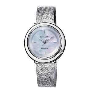 10+ đồng hồ Citizen nữ đính kim cương, máy Eco-Drive cực hot - Ảnh: Citizen EM0640-82D