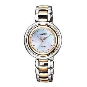 10+ đồng hồ Citizen nữ đính kim cương, máy Eco-Drive cực hot - Ảnh: Citizen EM0666-89D