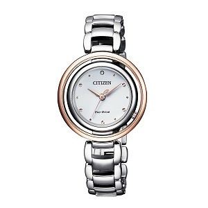 10+ đồng hồ Citizen nữ đính kim cương, máy Eco-Drive cực hot - Ảnh: Citizen EM0668-83A