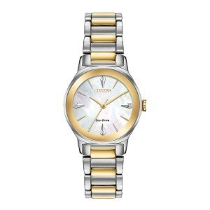 10+ đồng hồ Citizen nữ đính kim cương, máy Eco-Drive cực hot - Ảnh: Citizen EM0734-56D