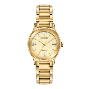 10+ đồng hồ Citizen nữ đính kim cương, máy Eco-Drive cực hot - Ảnh: Citizen EM0732-51P