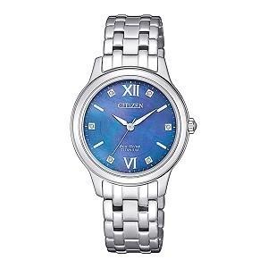 10+ đồng hồ Citizen nữ đính kim cương, máy Eco-Drive cực hot - Ảnh: Citizen EM0720-85N