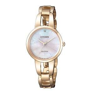 10+ đồng hồ Citizen nữ đính kim cương, máy Eco-Drive cực hot - Ảnh: Citizen EM0433-87D