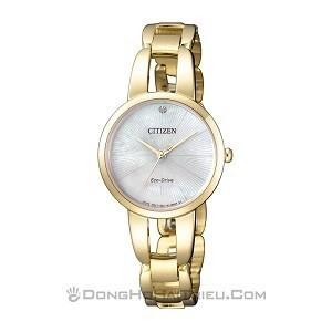 10+ đồng hồ Citizen nữ đính kim cương, máy Eco-Drive cực hot - Ảnh: Citizen EM0432-80Y
