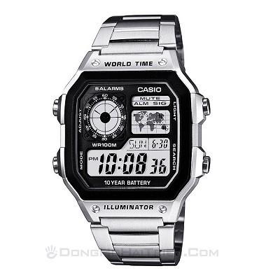 30 mẫu đồng hồ chính hãng giá dưới 2 triệu, miễn phí thay pin - Ảnh: Casio AE1200WHD-1AVDF