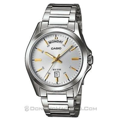 30 mẫu đồng hồ chính hãng giá dưới 2 triệu, miễn phí thay pin - Ảnh: Casio MTP-1370D-7A2VDF
