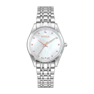 48 mẫu đồng hồ xà cừ nữ quà tặng 20 tháng 10, có ưu đãi kép - Ảnh: Doxa D204SWH