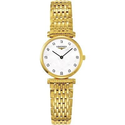 48 mẫu đồng hồ xà cừ nữ quà tặng 20 tháng 10, có ưu đãi kép - Ảnh: Longines L4.209.2.87.8