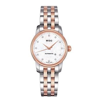 48 mẫu đồng hồ xà cừ nữ quà tặng 20 tháng 10, có ưu đãi kép - Ảnh: Mido M7600.9.69.1