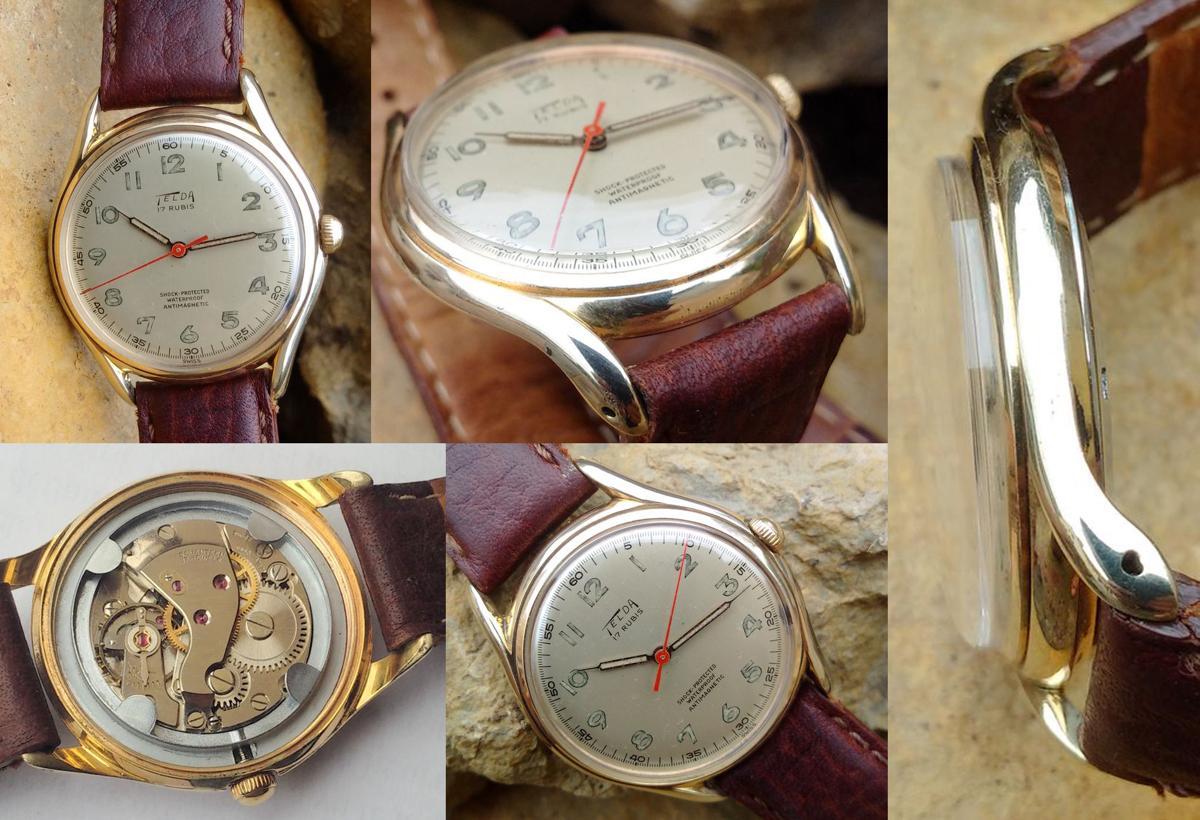 Đồng hồ đeo tay cổ Telda lên dây Cal.FHF 28 năm 1950