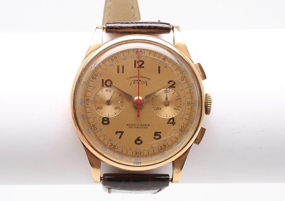 Telda Chronograph 17J khoảng năm 1950